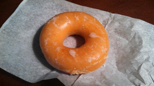 a Krispy Kreme donut